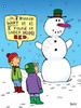 Vibrating snowman