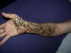 henna work on your arm.