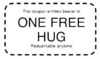 entitled to a 1 free hug coupon