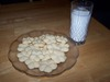 Whipped Shortbread . . and milk