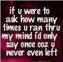 Never Left My Mind
