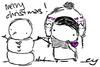 merry xmas snowman~