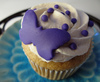 blue butterfly cupcake♥